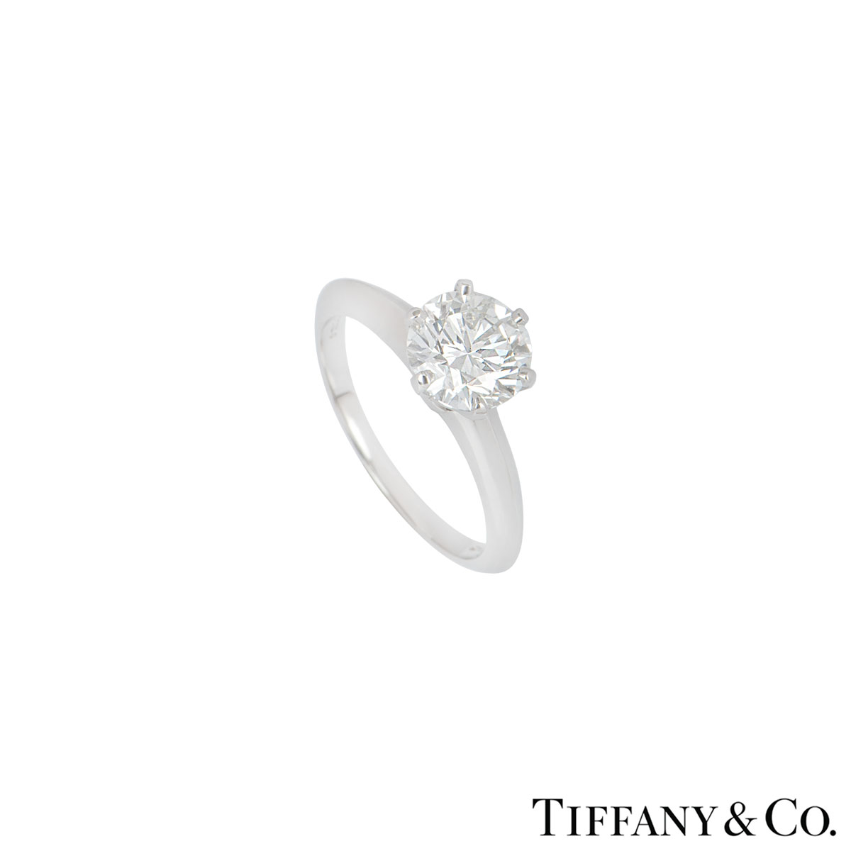 Tiffany & Co. Platinum Diamond Setting Ring 1.50ct I/VS1